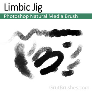 Photoshop Natural Media Brush for digital artists 'Limbic Jig'