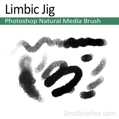 Photoshop Natural Media Brush for digital artists 'Limbic Jig'