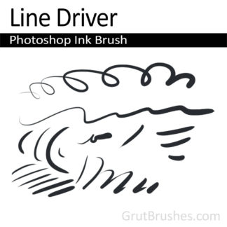 Photoshop Ink Brush for digital artists 'Line Driver'