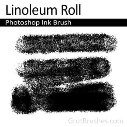 Linoleum Roll - Photoshop Ink Brush