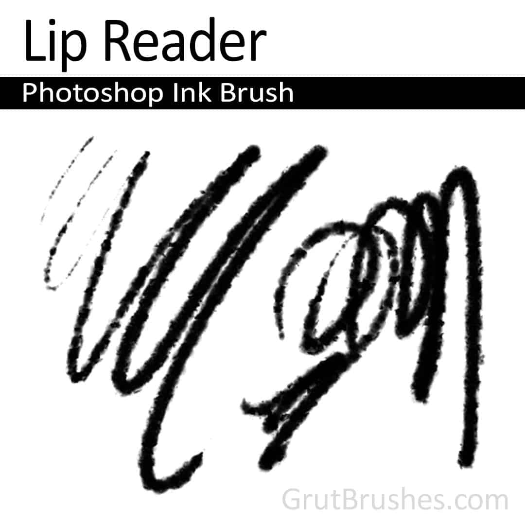 'Lip Reader' Photoshop ink brush for digital painting