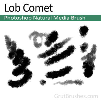 Photoshop Natural Media Brush for digital artists 'Lob Comet'