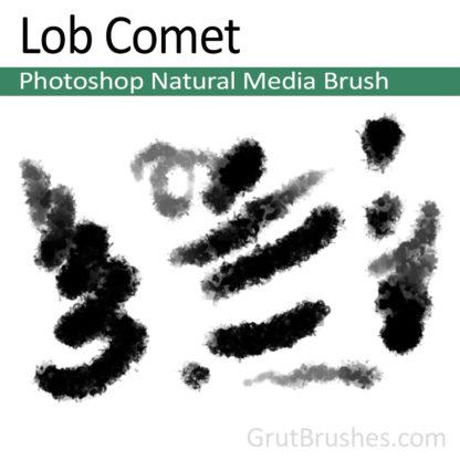 Photoshop Natural Media Brush for digital artists 'Lob Comet'