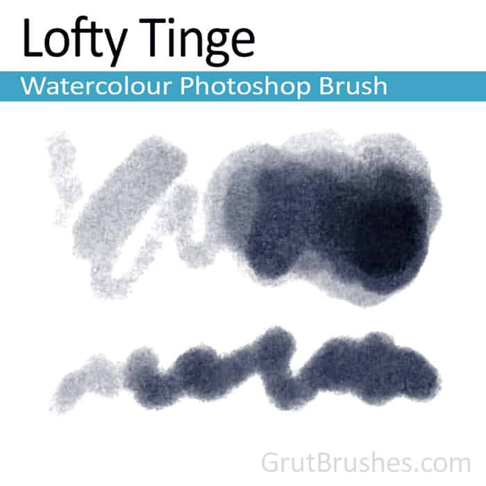 'Lofty Tinge' Photoshop watercolor brush for digital painting
