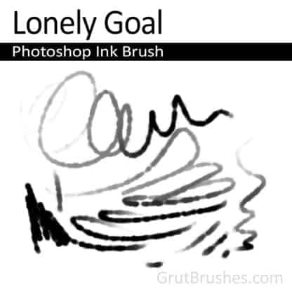 Lonely Goal - Photoshop Ink Brush