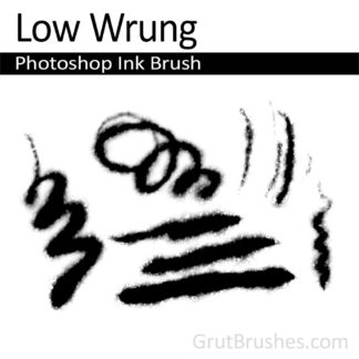 Photoshop Ink Brush for digital artists 'Low Wrung'