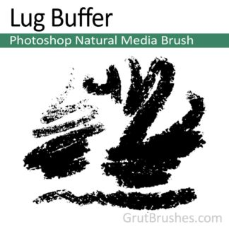 Photoshop Natural Media Brush for digital artists 'Lug Buffer'