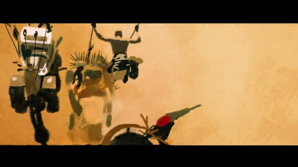 "Still frame from an animated tribute to ""Mad Max:Fury Road"" by Pablo Fernández Eyre"