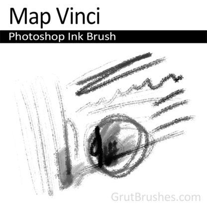Photoshop Ink Brush for digital artists 'Map Vinci'