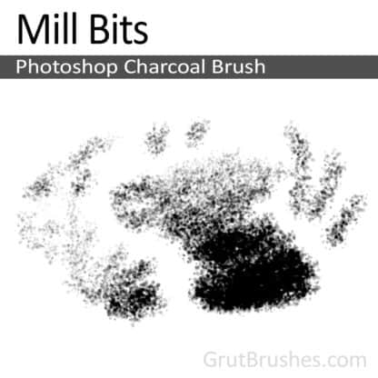 Photoshop Charcoal Brush for digital artists 'Mill Bits'