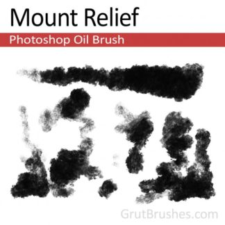 Mount Relief - Photoshop Oil Brush