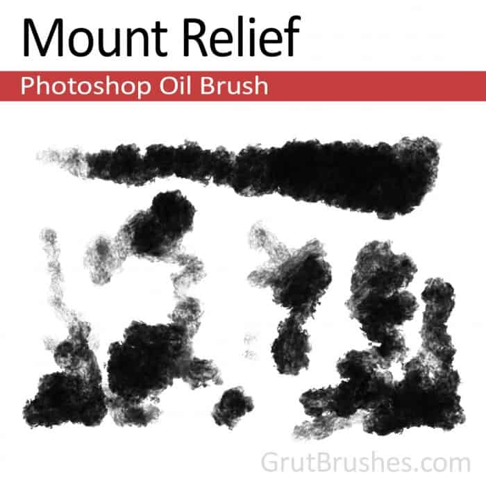 Mount Relief - Photoshop Oil Brush - Grutbrushes.com