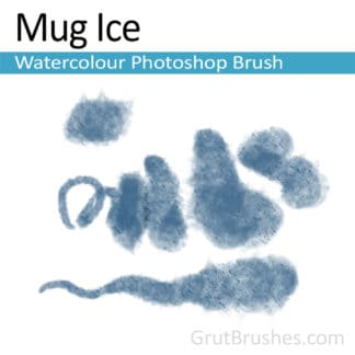Photoshop Watercolor Brush for digital artists 'Mug Ice'