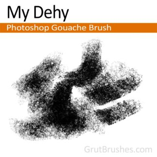 Photoshop Gouache Brush for digital artists 'My Dehy'