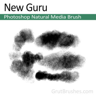 Photoshop Natural Media Brush for digital artists 'New Guru'