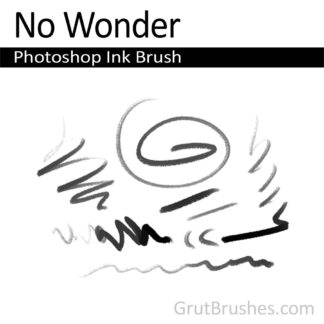 Photoshop Ink Brush for digital artists 'No Wonder'
