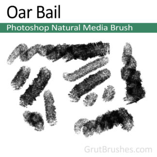 Photoshop Natural Media Brush for digital artists 'Oar Bail'