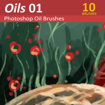 Oils 01 - Oil Paint Brushes for Photoshop