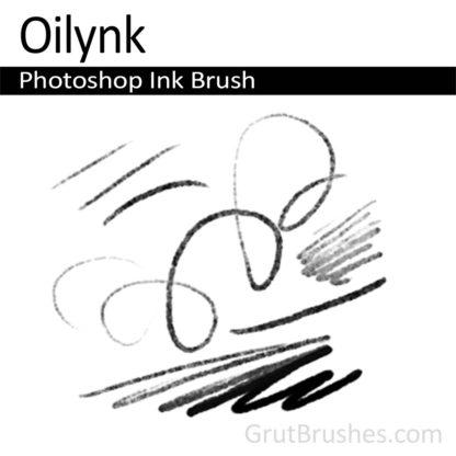 Photoshop Ink Brush for digital artists 'Oilynik'