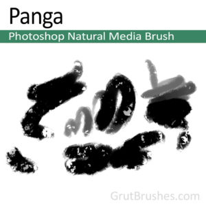 Photoshop Natural Media Brush for digital artists 'Panga'