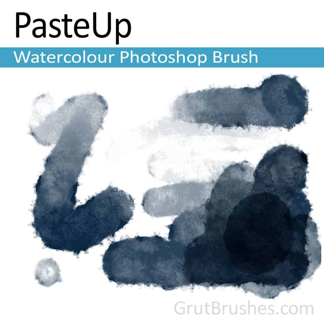 'PasteUp' Photoshop watercolor brush for digital painting