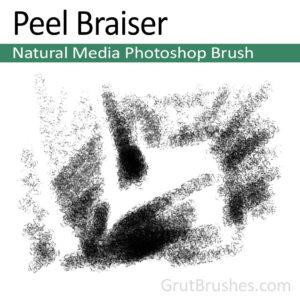 'Peel Braiser' Photoshop Charcoal Brush for digital artists