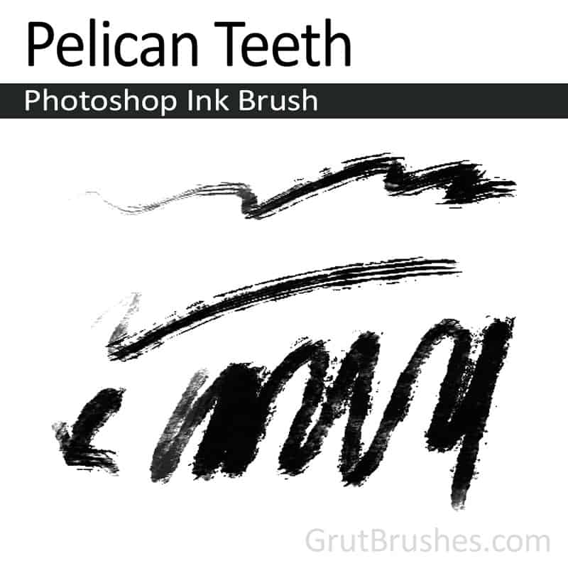 'Pelican Teeth' Photoshop ink brush for digital painting