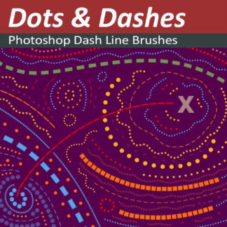 Dashed and Dotted Line Brushes for Photoshop