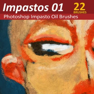 Impastos 01 - Photoshop Impasto Oil Brushes