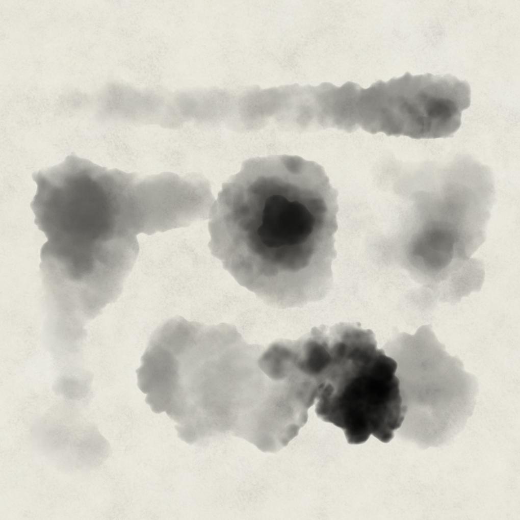 Photoshop Ink Wash Brush 'Mush Agog'