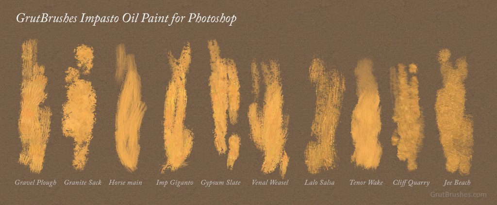 details of the Photoshop impasto brush strokes