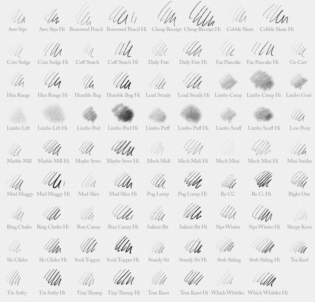 42 Photoshop Pencil Brushes