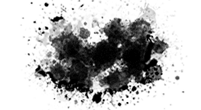 'live' Photoshop splatter brushes
