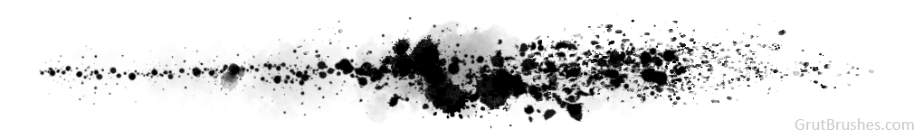 the Photoshop Splatter brushes are dynamic and produce a different spray pattern with every stroke