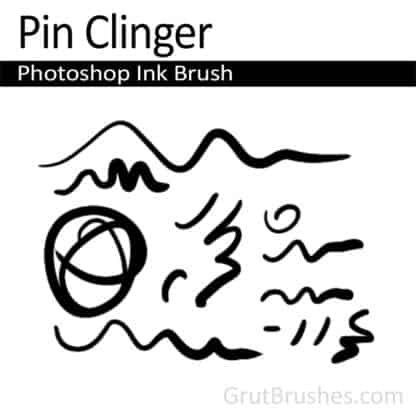 Pin Clinger - Photoshop Ink Brush