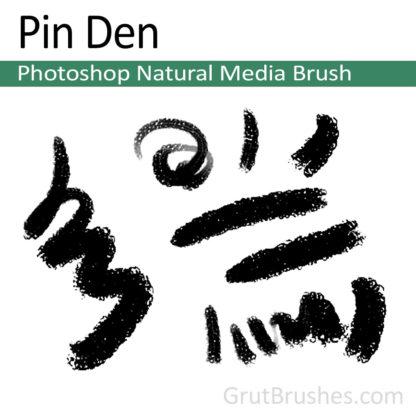 Photoshop Natural Media Brush for digital artists 'Pin Den'