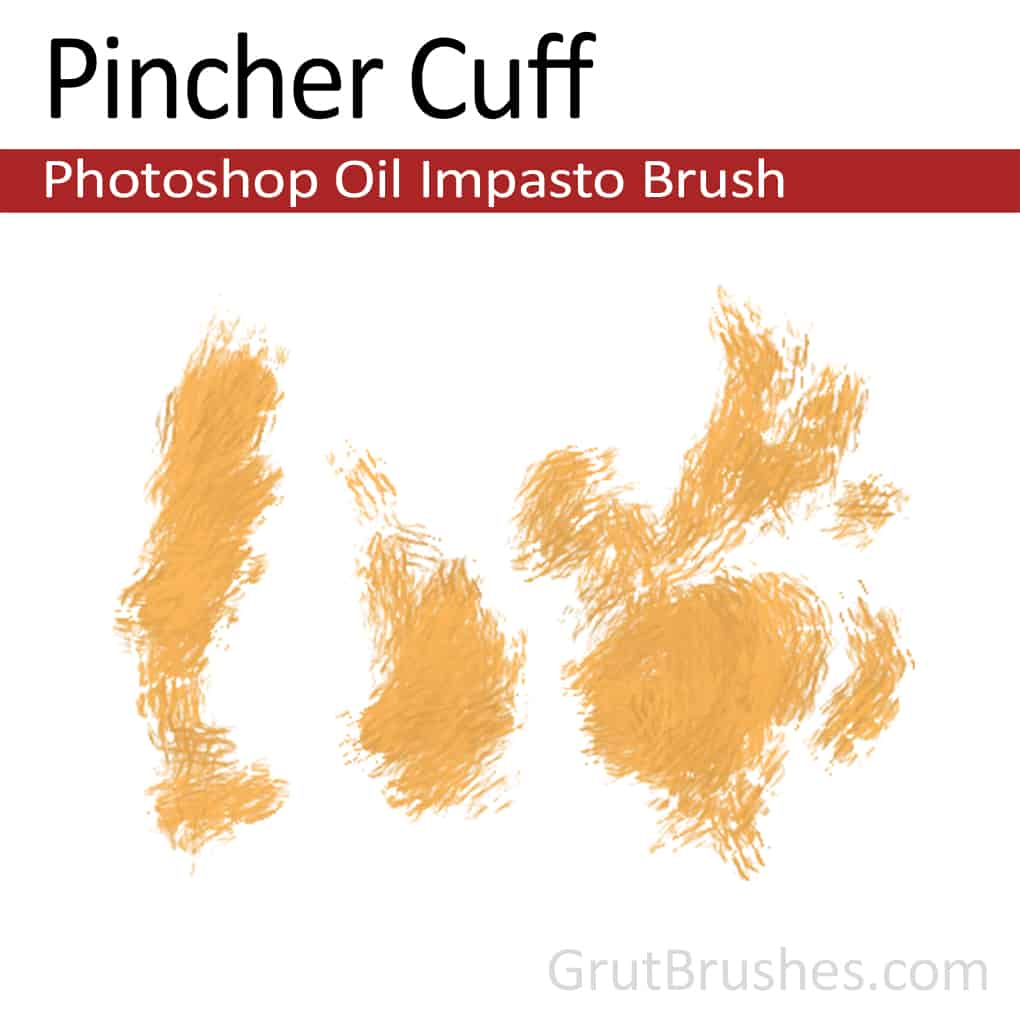 Photoshop Oil Impasto Brush for digital artists 'Pincher Cuff'
