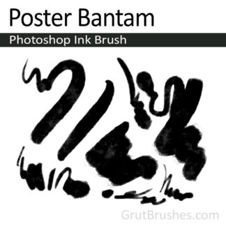 Poster Bantam - Photoshop Ink Brush