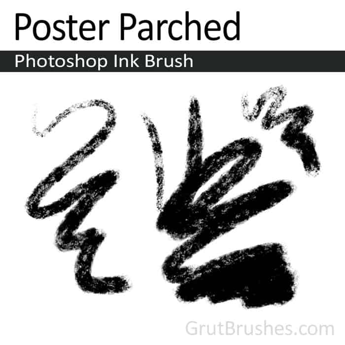 'Poster Parched' Photoshop ink brush for digital painting