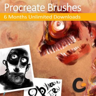 download all Procreate brushes from GrutBrushes.com