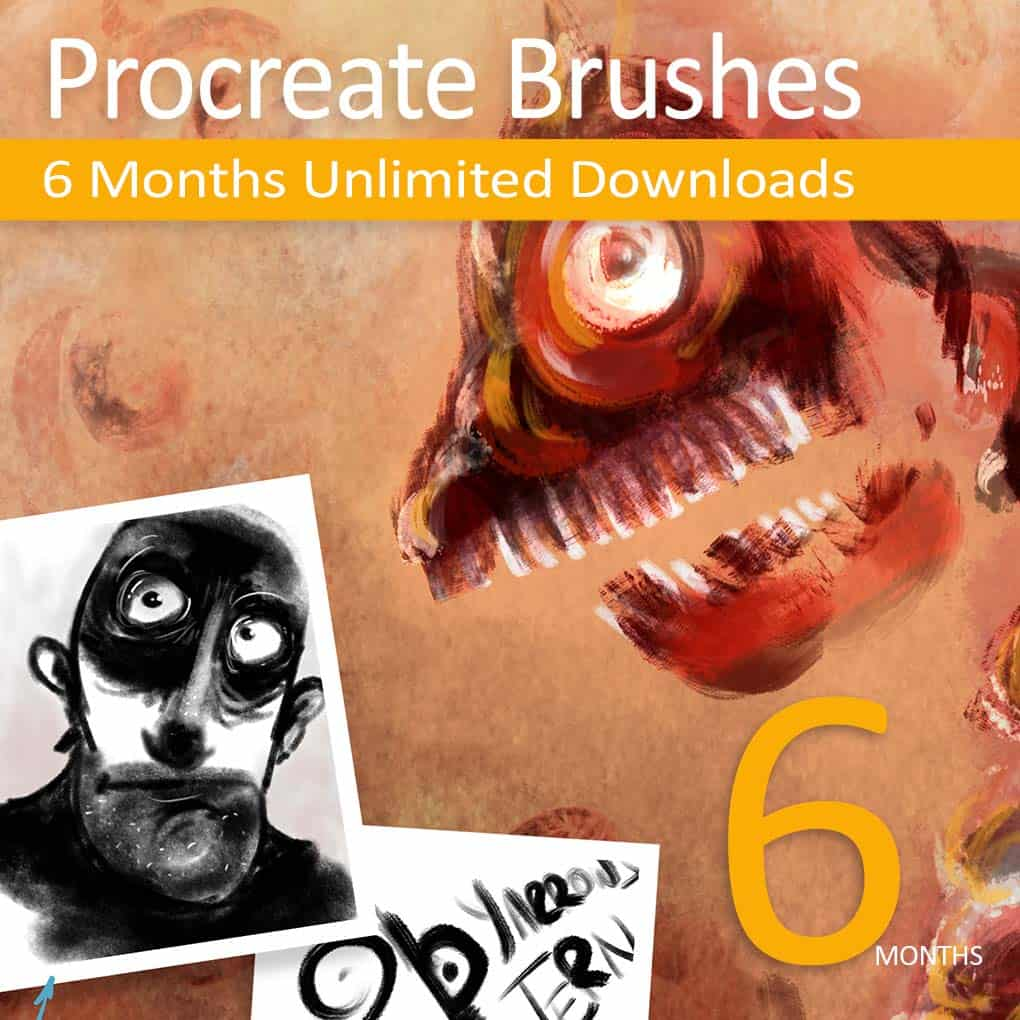 Procreate Unlimited GrutBrushes membership