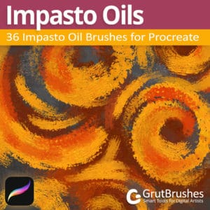 Procreate oil brushes set