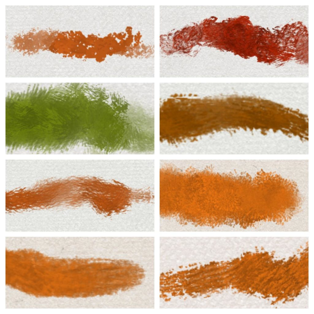 8 Procreate impasto oil brush strokes