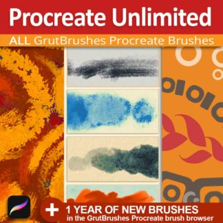 Procreate Unlimited - all Procreate brushes from GrutBrushes