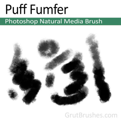 Photoshop Natural Media Brush for digital artists 'Puff Fumfer'