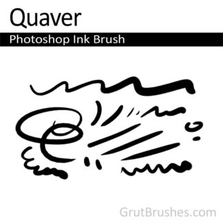 Photoshop Ink Brush for digital artists 'Quaver'