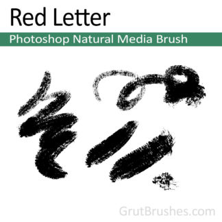 Photoshop Natural Media Brush for digital artists 'Red Letter'
