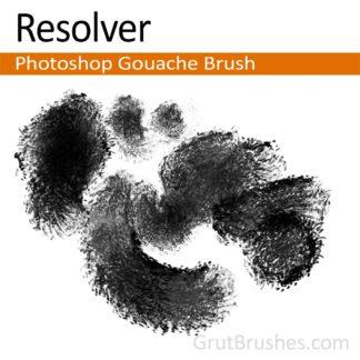 "Photoshop Gouache brush ""Resolver"""