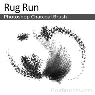 Rug Run - Photoshop Charcoal Brush