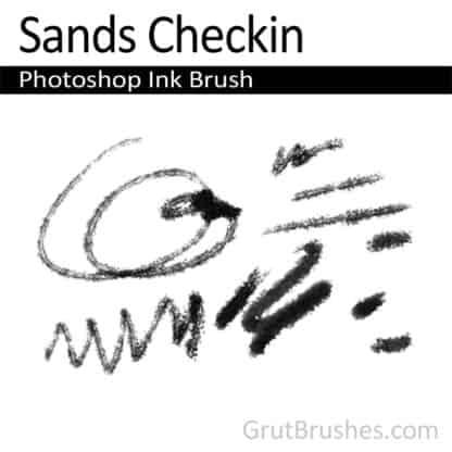 Photoshop Ink Brush for digital artists 'Sands Checkin'